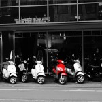 One Red Scooter, Amsterdam, The Netherlands