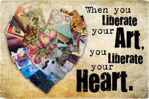 Liberate Your Art Postcard Swap Kat Sloma