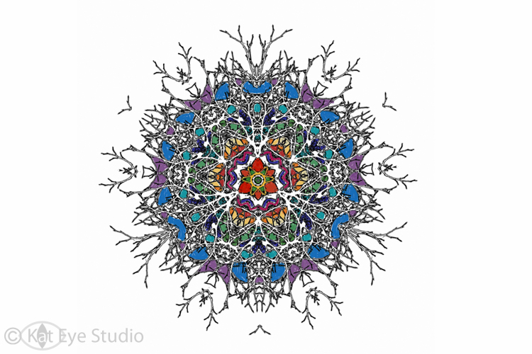 Free Mandala Coloring Page Kat Sloma iPhone Photography