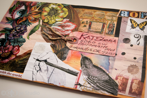 Kat Sloma Liberate Your Art Poscard Swap Mail Art