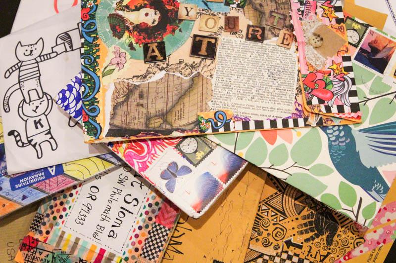 Liberate Your Art Postcard Swap Mail Art Kat Sloma